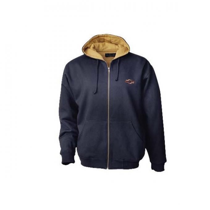 Chevy Sweatshirt, Men's, Craftsman Thermal With Gold Bowtie