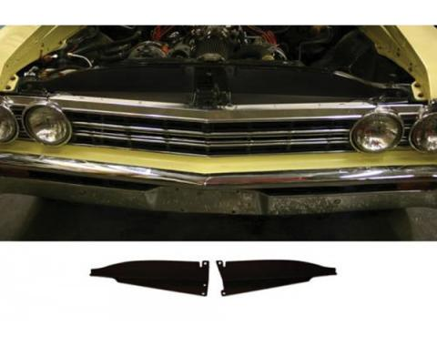 Chevelle Core Support Filler Panel, Black Anodized, 1967