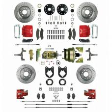 Nova - Signature Series Big Brake Four Wheel Disc Conversion, Drop Spindles, Non-Staggered,  Power, 1968-1974
