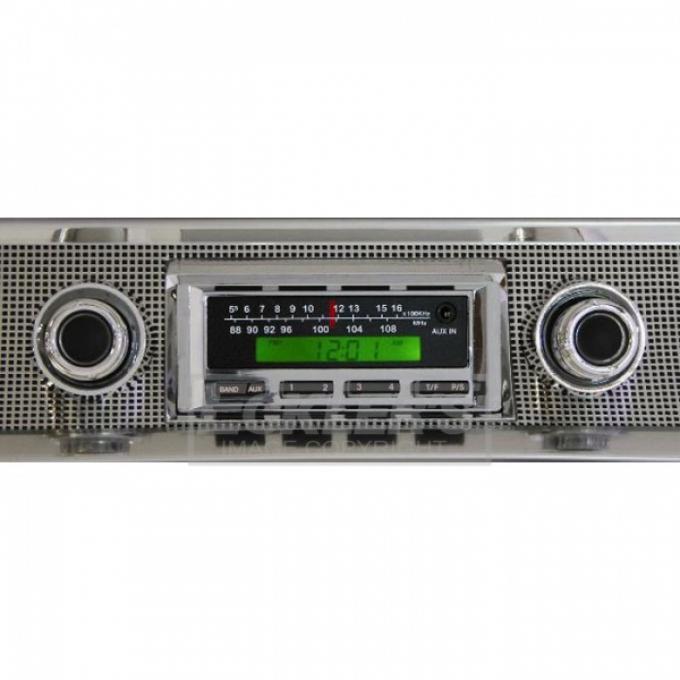 Chevelle Ken Harrison KHE-100 Series Stereo With Chrome Face, 200 Watt, 1966-1967
