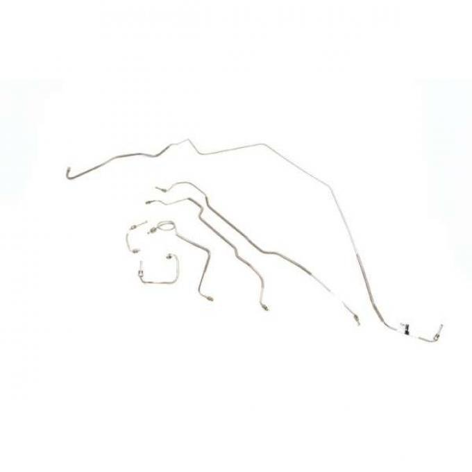 Chevelle Disc Brake Line Set, Front To Rear, Power, Stainless Steel 1978-1983