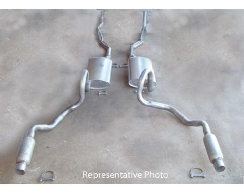 Chevelle - Dual Exhaust System, Small Block With Resonators, Except Station Wagon, 1970-1972