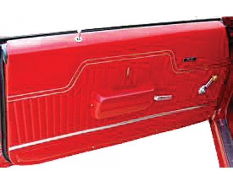PUI Chevelle Front Door Panels, Standard, Gold Edition, Coupe & Convertible, 1970-1972