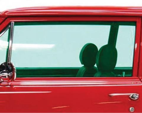 Chevelle Door Glass, 2-Door Coupe, Left Hand, 1965
