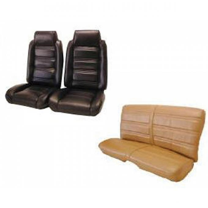 Malibu Front Bucket Seats, With Built-In Headrests & Rear Bench Seat, In Madrid Grain Vinyl, 1978-1981