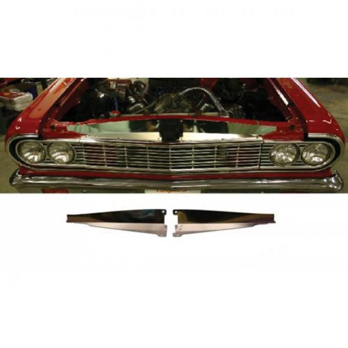 Chevelle Core Support Filler Panel, Polished Aluminum, 1964