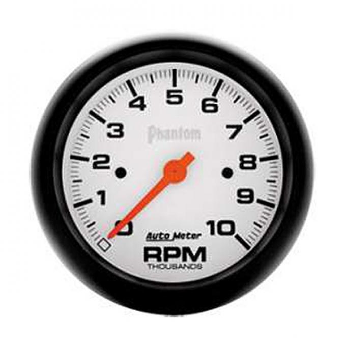 El Camino Tachometer, In-Dash Mount, 10,000 RPM, Phantom Series, AutoMeter, 1959-1987
