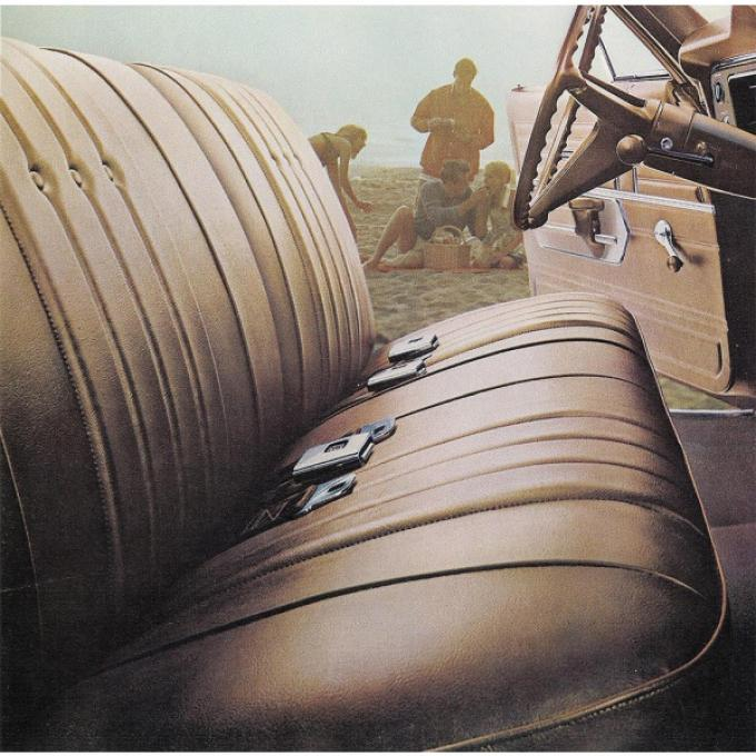 Legendary El Camino Covers, Front Seats, Split Bench, Show Correct, 1968