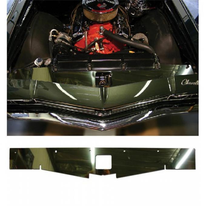 El Camino Core Support Filler Panel, Polished Aluminum, 1968-1969