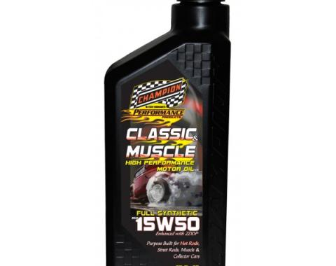 Champion Classic & Muscle High Zinc Full Synthetic Motor Oil, 15W-50