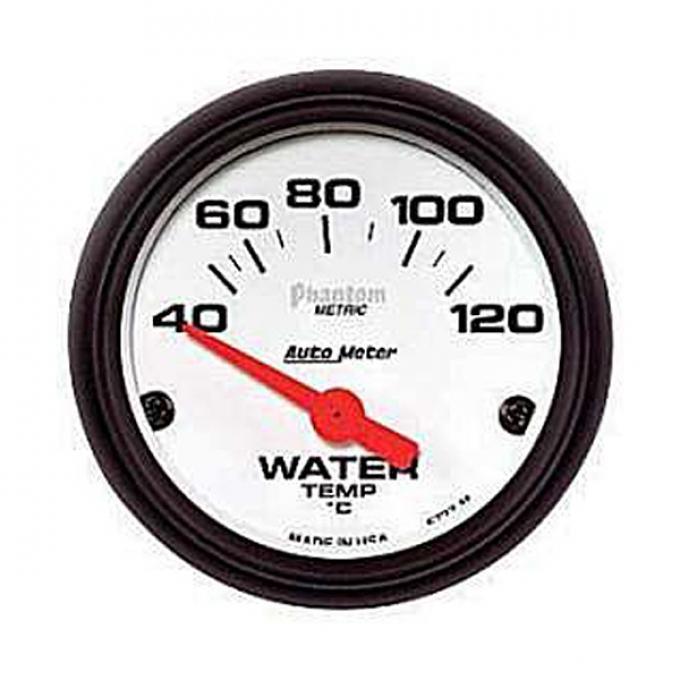 "El Camino Water Temperature Gauge, Electric, 2-1/16"",Phantom Series, AutoMeter, 1959-1987"