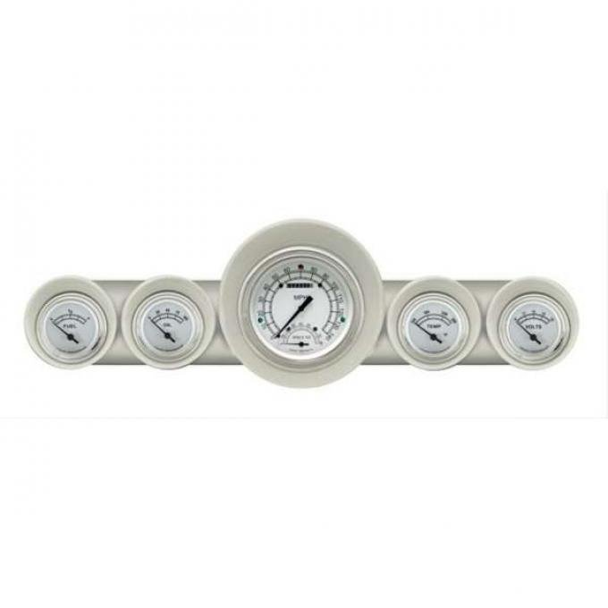 El Camino Speedtachular Custom Gauge Set, Classic White, 1959-1960