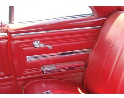 PUI 1966 Chevrolet Chevelle Gold Edition Preassembled Rear Door Panels, Coupe 66CHPDOC