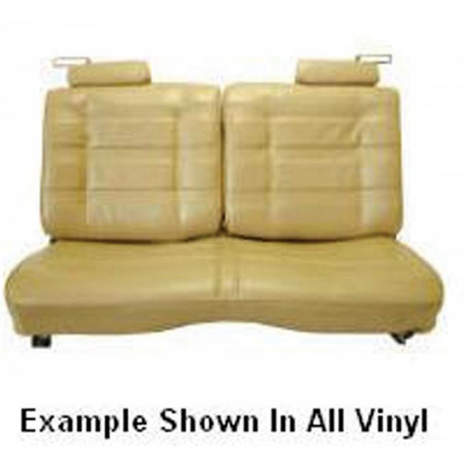 El Camino Seat Cover, Bench, Split Back, With Headrests, Vinyl/Velour, 1978-1980