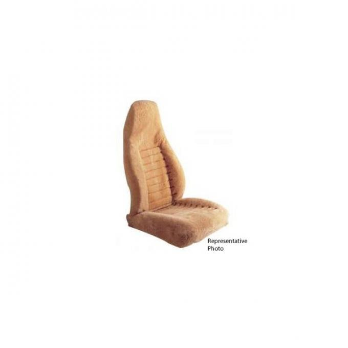 El Camino Sheepskin 40/60 Seat Headrest Cover, With Fold Down Arm Rest 1978-1987