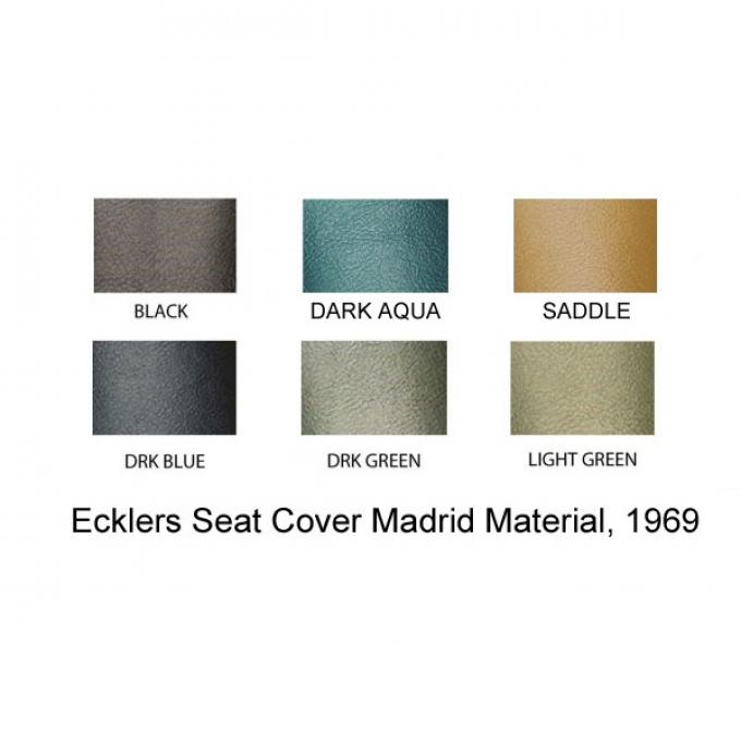 PUI 1969 Chevrolet Chevelle Rear Seat Covers, 4 Door Sedan 69AS4DS