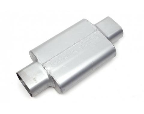 "Chevelle Muffler, 2.5"", Center/Offset, 40 Series Delta Flow, Flowmaster, 1964-1972"