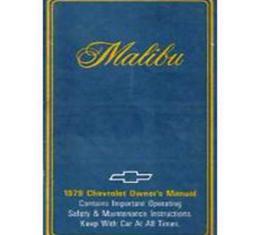 Malibu Owners Manual, 1979