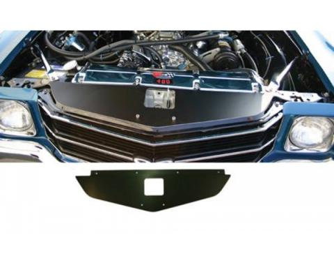 Chevelle Core Support Filler Panel, Black Anodized, 1970-1972