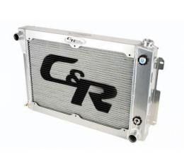 Chevelle And Malibu C&R Racing 2-Pass Crossflow Radiator, For LS Engines, With 10 Plate Engine Oil Cooler And Power Steering Cooler, For Standard Transmission, 1968-1977