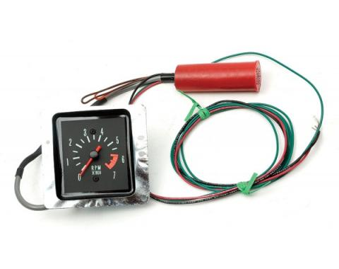 Chevelle Tachometer, 7000 RPM, In-Dash Clock Conversion, For Cars With Sweep Style Dash, 1970