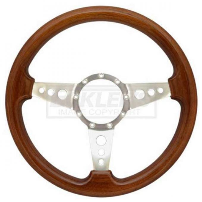 Chevelle Steering Wheel, Volante S9, Simulated Walnut Wood Finish, 1964-1983