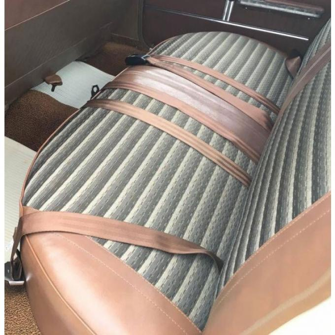 PUI 1964 Chevrolet Chevelle Rear Seat Covers, 4 Door Sedan 64AS4DS