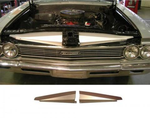 Chevelle Core Support Filler Panel, Anodized Aluminum, 1966