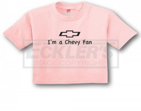 """Light Pink """"I'm A Chevy Fan"""" Infant Tee"""