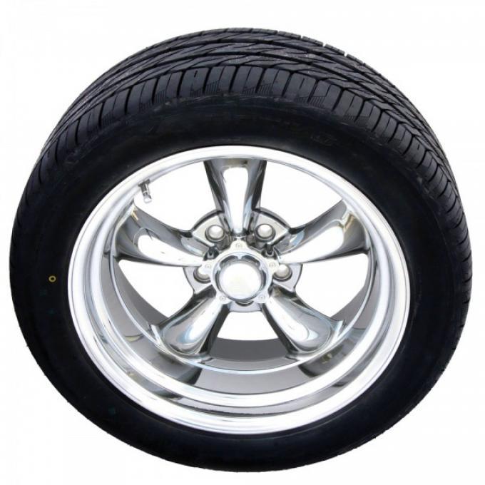 "Torq Thrust II Polished 15"" Wheels & OHTSU Tires, Ford"