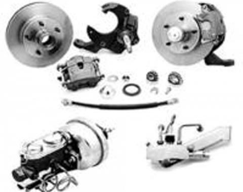 Chevelle Front Disc Brake Kit, With Booster, With Drop Spindle, 1968-1972