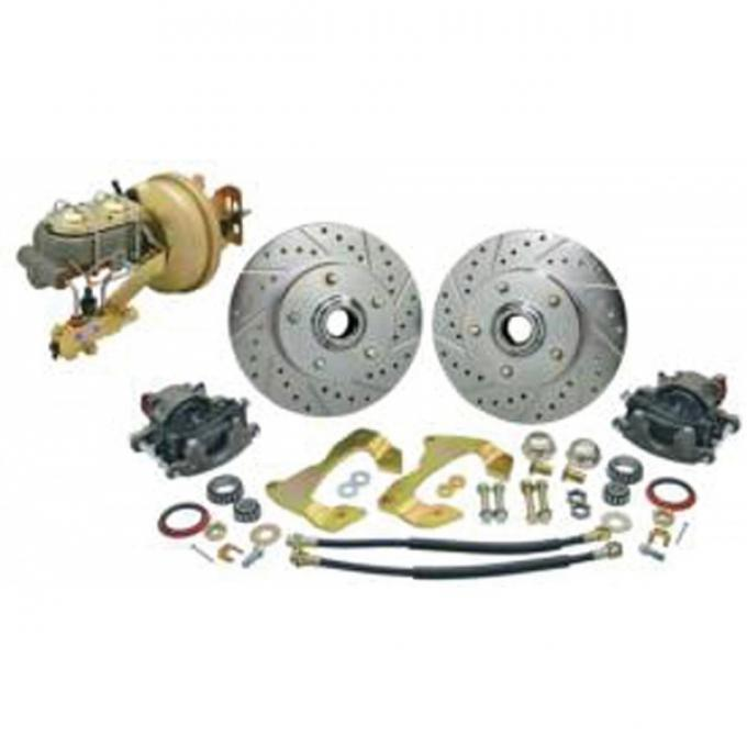 Chevelle Front Disc Brake Kit, With Booster & For Stock Spindle, 1967