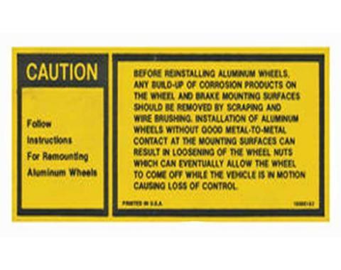 Chevelle And Malibu Aluminum Wheel Instruction, Decal, 1980-1981