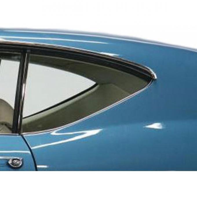 Chevelle Quarter Glass, 2-Door Coupe, Left Hand, 1968-1969