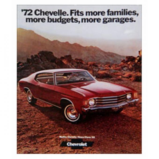 Chevelle Literature, Color Sales Brochure, 1972