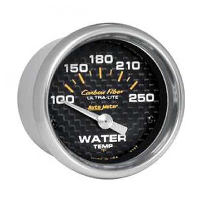 El Camino Water Temperature Gauge, Electric, Carbon Fiber Series, AutoMeter, 1959-1987