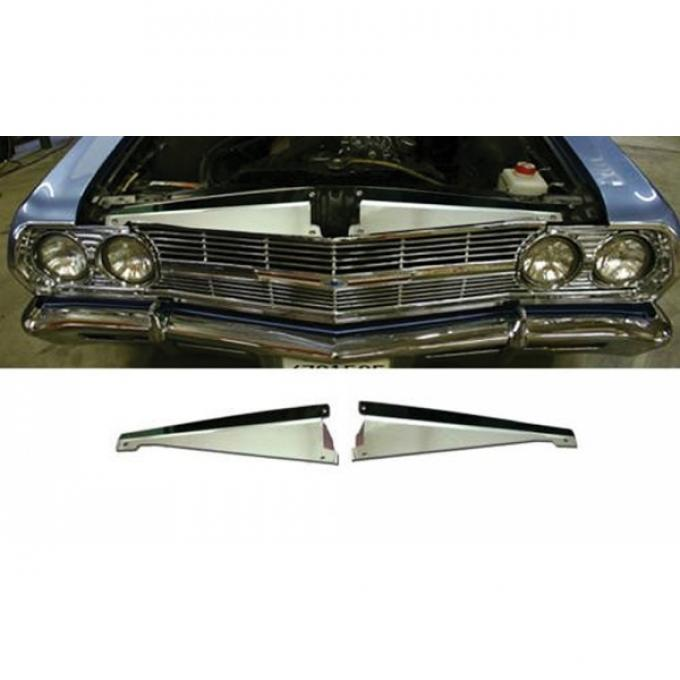 Chevelle Core Support Filler Panel, Polished Aluminum, 1965