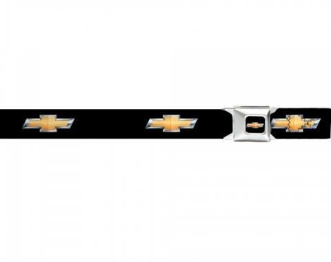 Seat Belt Belts, Chevy Bowtie Gold