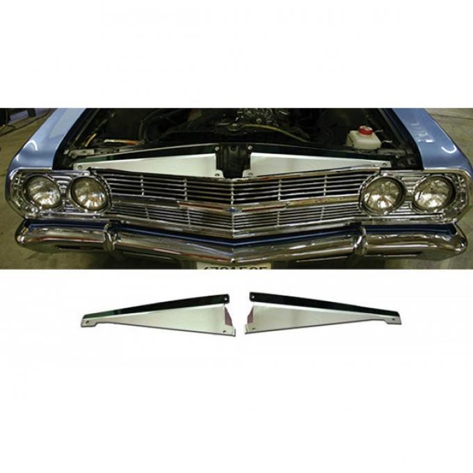 El Camino Core Support Filler Panel, Polished Aluminum, 1965