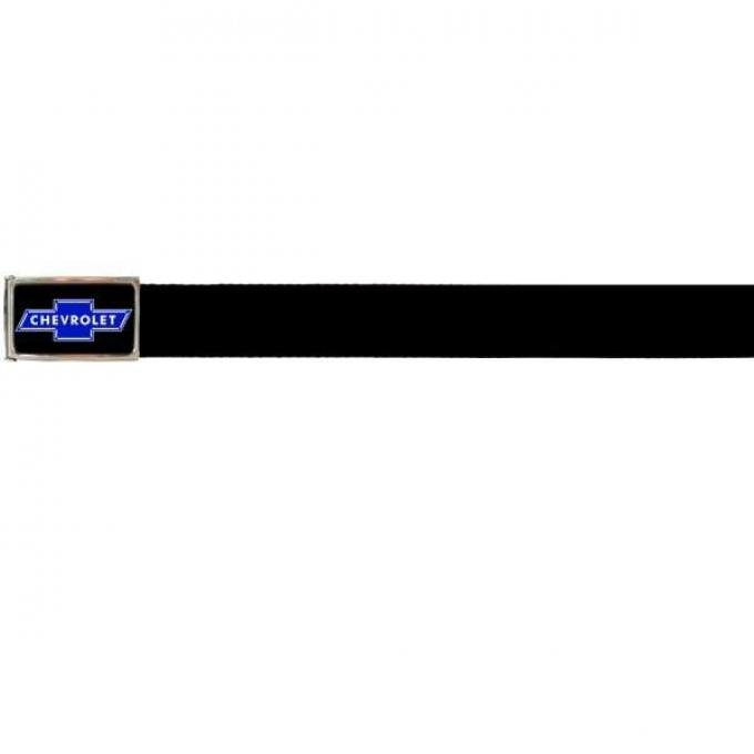 Web Belts, Up to 46'' Waist, Chevy Blue Bowtie Logo WithoutBottle Opener