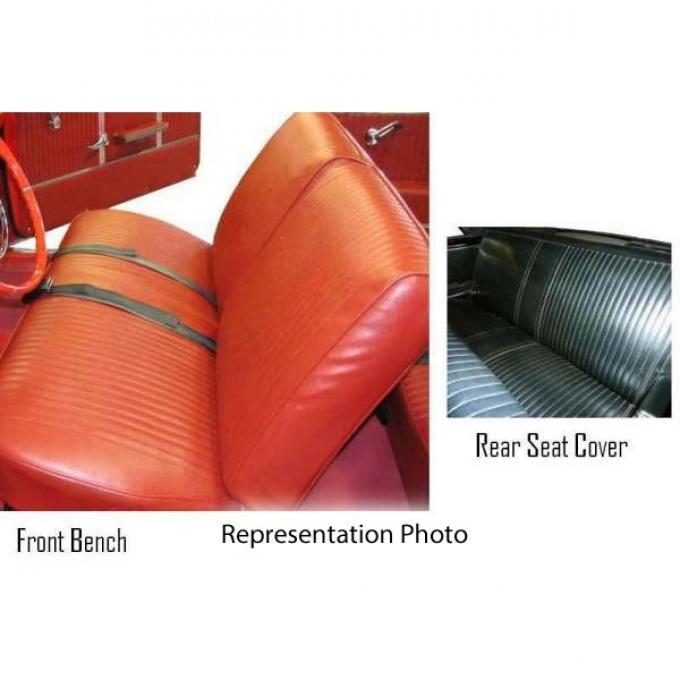 Legendary Auto Interiors Chevelle & Malibu Covers, Rear Seat, Convertible, Show Correct, 1964