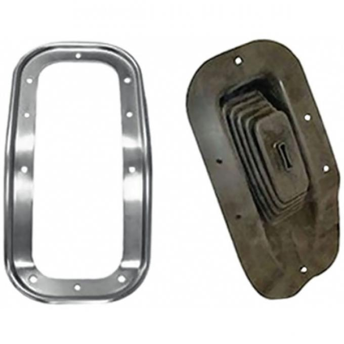 Chevelle And Malibu Shifter Boot And Retainer, With Center Console, Kit, 1968-1972