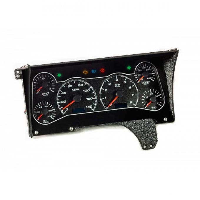 Malibu- Performance II Gauge Package, Black Dial, 1982-1983