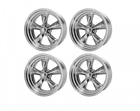Chevy American Racing Torq Thrust II Wheel Set, Polished Aluminum, 16X7 & 16X8