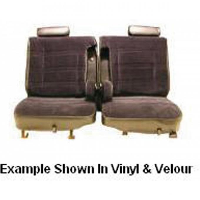 El Camino Seat Cover, Split Bench, Split Back, Dual Armrest& Headrest, Vinyl, 1978-1980