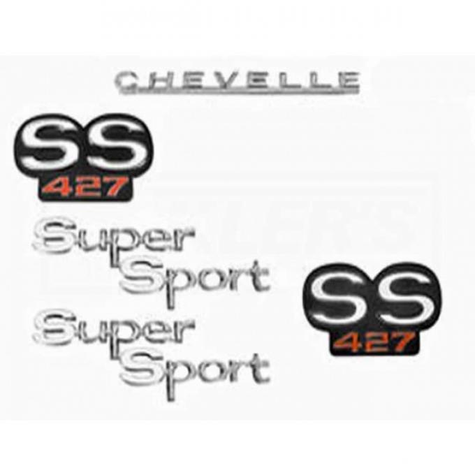 Chevelle And Malibu Emblem Kit, Super Sport 427, 1966