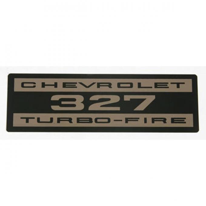Corvette Decals, Valve Cover Chevrolet 327 Turbo Fire Metal, 1962-1963