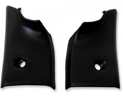 Chevelle & Monte Carlo Rear Window Molding Corners, Interior, Lower, 2-Door Coupe, 1968-1972