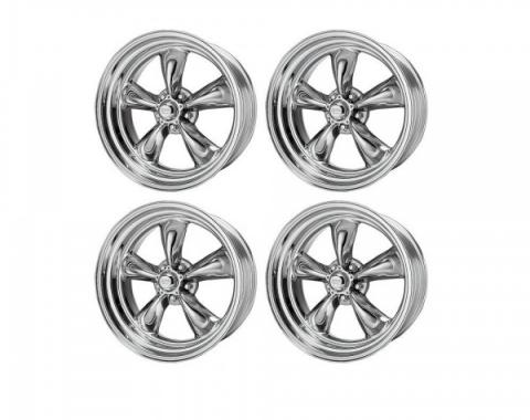Chevy American Racing Torq Thrust II Wheel Set, Polished Aluminum, 17X7 & 17X8