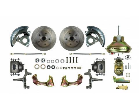 "67-9 Front Disc Brake Conversion, 2"" Drop, 11"" Booster"